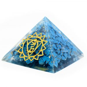 Orgonite Pyramid Turquoise - Throat Chakra (40 mm)
