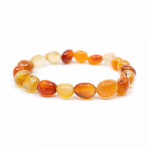 Gemstone Bracelet Red Agate Tumbled Stones