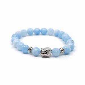 Gemstone Bracelet Blue Agate with Buddha