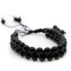 Gemstone Bracelet Black Agate