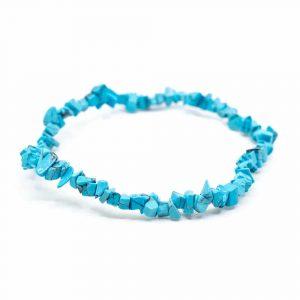 Gemstone Chip Bracelet Turquoise Blue