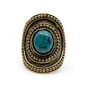 Bohemian Gemstone Ring Turquoise - Adjustable