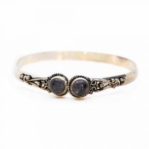 Gemstone Bracelet Antique Round Amethyst Adjustable