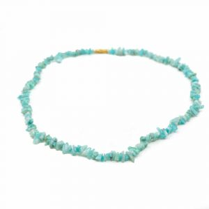 Gemstone Chip Necklace Amazonite (45 cm)