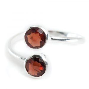 Birthstone Ring Garnet January - 925 Silver