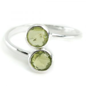 Birthstone Ring Peridote August - 925 Silver
