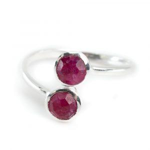 Birthstone Ring Ruby July - 925 Silver