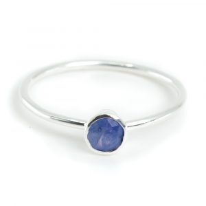 Birthstone Ring Sapphire September - 925 Silver - (Size 17)