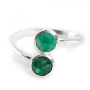 Birthstone Ring Emerald May - 925 Silver