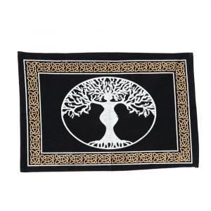 Cotton Altar Cloth with Goddess Tree (46 x 30 cm)