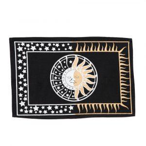 Cotton Altar Cloth with Sun and Moon (46 x 30 cm)