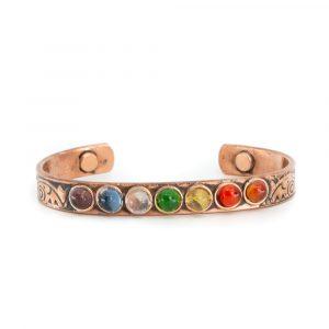 "Copper Magnet Bracelet ""7 Chakras"""