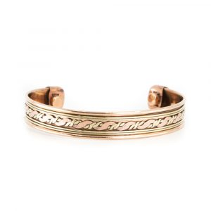 "Copper Magnet Bracelet ""Twirl"""