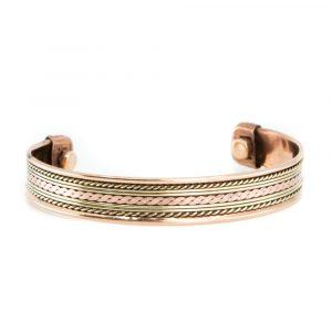 "Copper Magnet Bracelet ""Lifelines"""