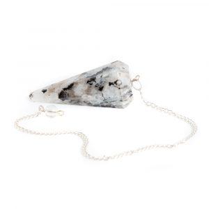 Pendulum Gemstone Rainbow Moonstone Facet
