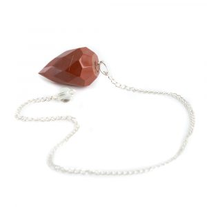 Pendulum Gemstone Red Jasper Diamond Cut