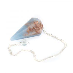 Pendulum Gemstone Angelite Facet