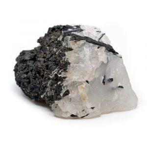 Raw Moonstone & Black Tourmaline Gem approx. 30 - 60 mm