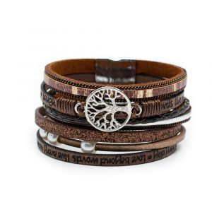 Bohemian Bracelet 6-Layer with Tree of Life Charm