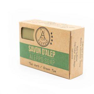 Aleppo Soap Green Tea - 8% Bay Laurel Oil - 100 grams
