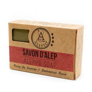 Aleppo Soap Damascus Rose - 8% Bay Laurel Oil - 100 grams