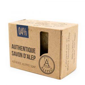 Aleppo Soap Natural - 4% Bay Laurel Oil - 200 grams