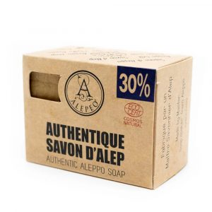 Aleppo Soap Natural Ecocert - 30% Bay Laurel Oil - 200 grams