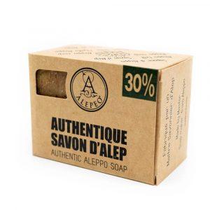 Aleppo Soap Natural - 30% Bay Laurel Oil - 200 grams
