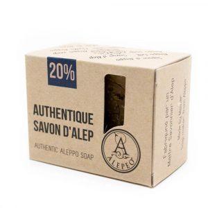 Aleppo Soap Natural - 20% Bay Laurel Oil - 200 grams