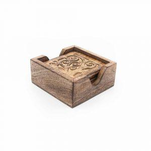 Sustainable Wood Coasters Tree of Life (Set of 6)