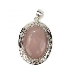 """Gemstone Pendant Rose Quartz 925 Silver """"Vada"""""""