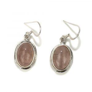 "Gemstone Earrings Rose Quartz 925 Silver ""Usnasha"""
