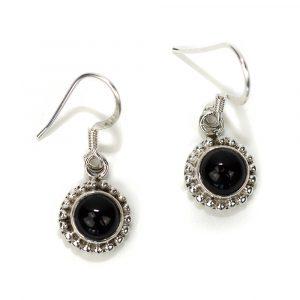 """Gemstone Earrings Black Onyx 925 Silver """"Kelhi"""""""
