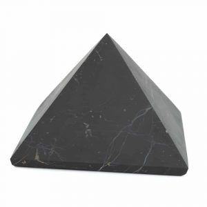 Gemstone Pyramid Shungite Unpolished - 100 mm