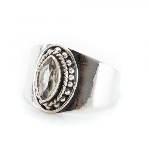"Gemstone Ring Citrine 925 Silver ""Esahni"" (Size 17)"