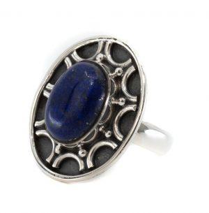 """Gemstone Ring Lapis Lazuli 925 Silver """"Dissada"""" (Size 17)"""