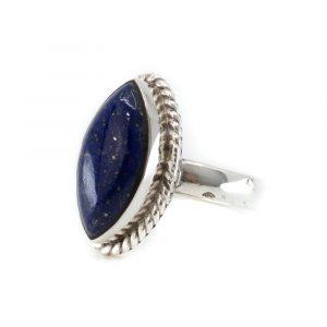 """Gemstone Ring Lapis Lazuli 925 Silver """"Ehnavi"""" (Size 17)"""