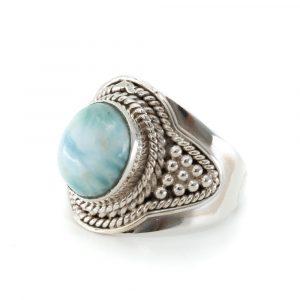 "Gemstone Ring Larimar 925 Silver ""Jehna"" (Size 17)"