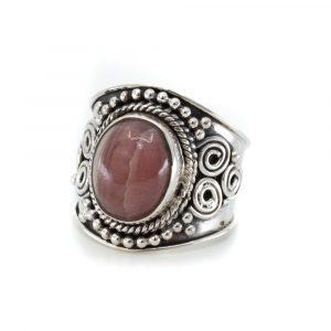 """Gemstone Ring Rhodochrosite 925 Silver """"Jesahna"""" (Size 17)"""
