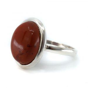 "Gemstone Ring Red Jasper 925 Silver ""Vaiha"" (Size 17)"