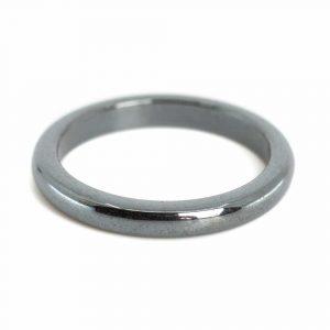 Gemstones Ring Hematite (3 mm - Size 19)