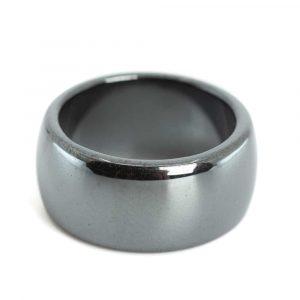 Gemstones Ring Hematite (10 mm - Size 17)