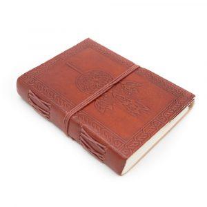 Handmade Leather Notebook Dreamcatcher (17.5 x 13 cm)