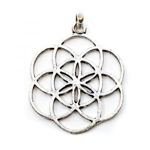 Pendant Seed of Life Silver Colored (30 mm)