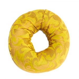 Singing Bowl Cushion Ring Shaped Yellow (10 x 3 cm)