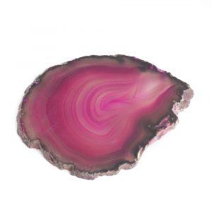 Coaster Disc Pink Agate Medium (6 - 8 cm)