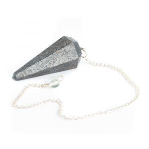 Pendulum Gemstone Hematite Facet