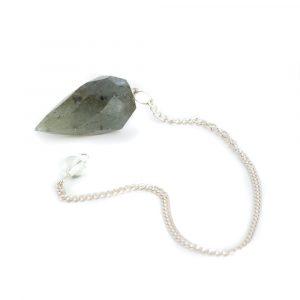 Pendulum Gemstone Labradorite Diamond Cut