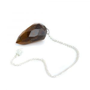 Pendulum Gemstone Tiger Eye Diamond Cut