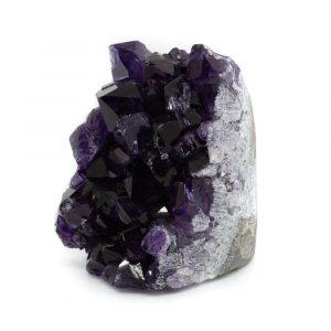 Raw Dark Amethyst Gemstone Geode Standing 50 - 80 mm